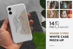 iPhone 11/Pro White Case Mock-Up