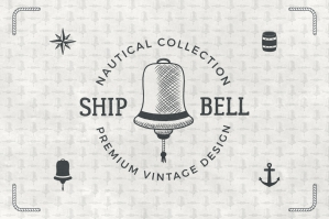8 Vintage Nautical Logos - Elements & Patterns