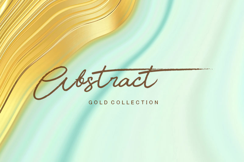 Abstract Gold & Turquoise Backgrounds