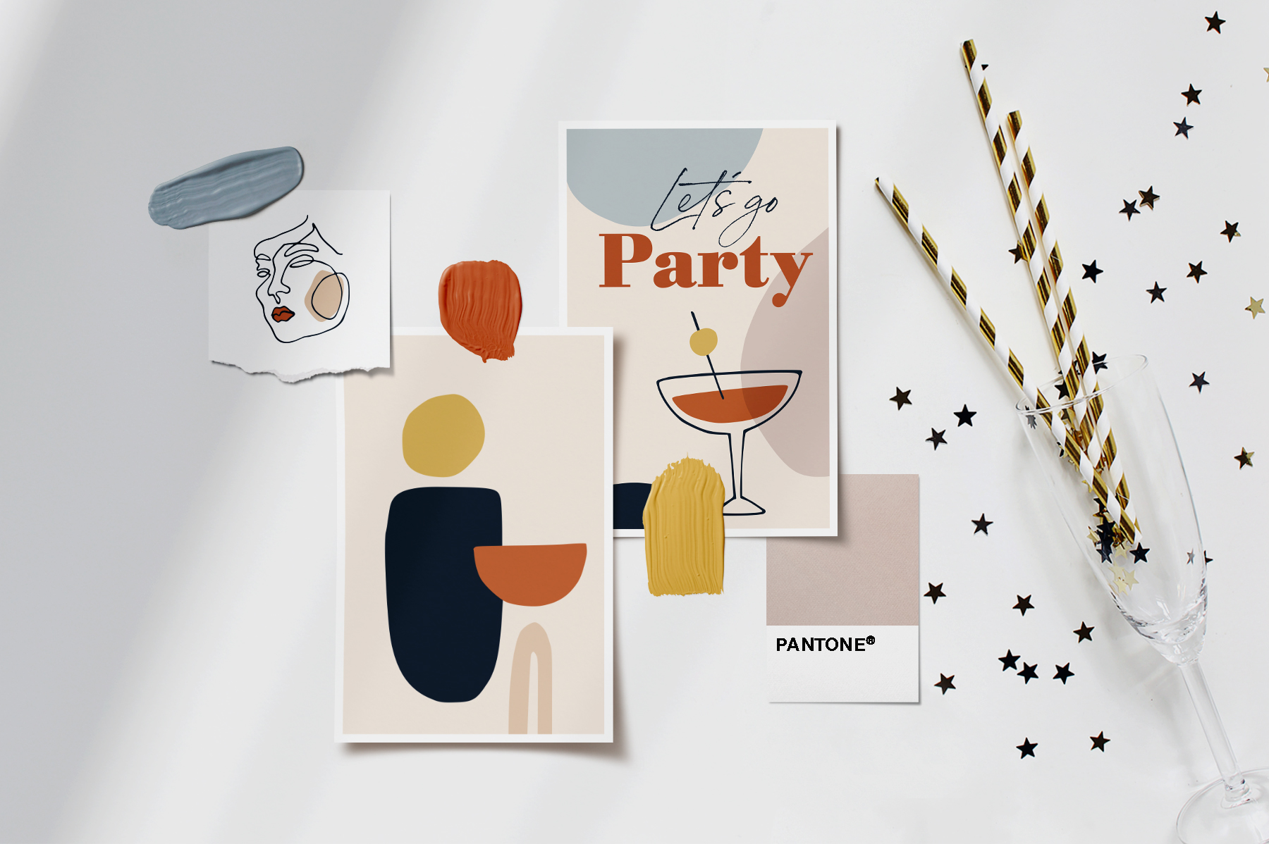 Abstract New Year's Party Set