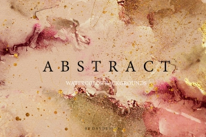 Abstract Rose Watercolor Textures 1