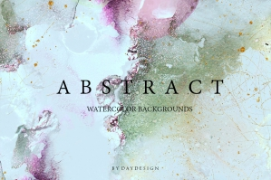 Abstract Turquoise Watercolor Collection