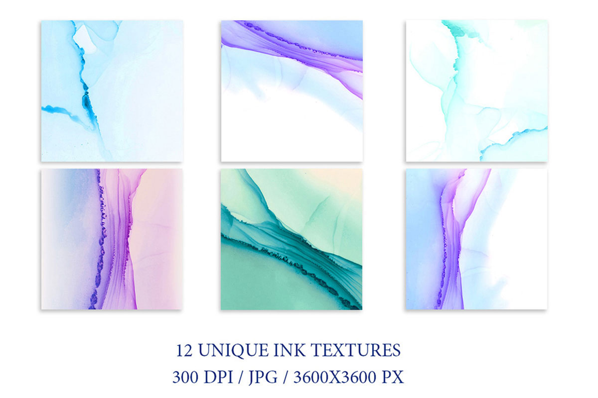 Alcohol Ink Turquoise Backgrounds