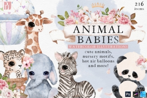 Animal Babies - Watercolor Animal Illustrations