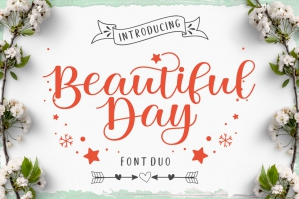 Beautiful Day Font Duo