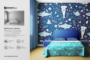 Bedroom Interior Objects Mockup