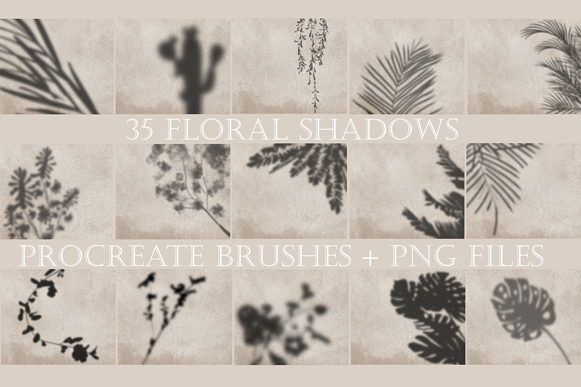 Botanica Shadow Overlay Stamps for Procreate
