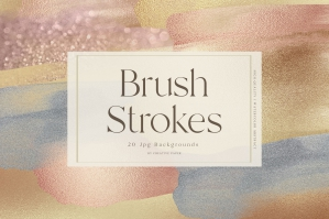 Brush Strokes - Rose Gold Backgrounds