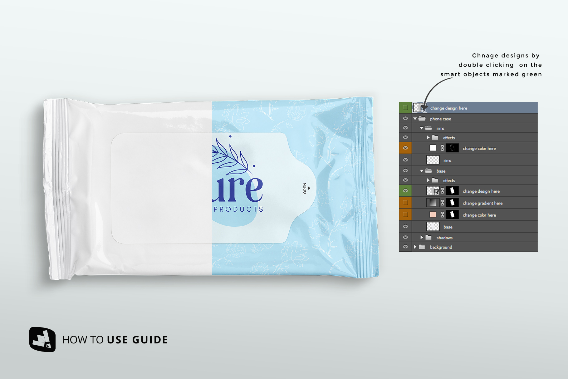 Disposable Wipes Packaging Mockup
