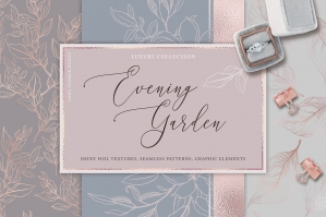 Evening Garden - Gold and Graphics