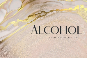 Gold Alcohol Ink Backgrounds 1