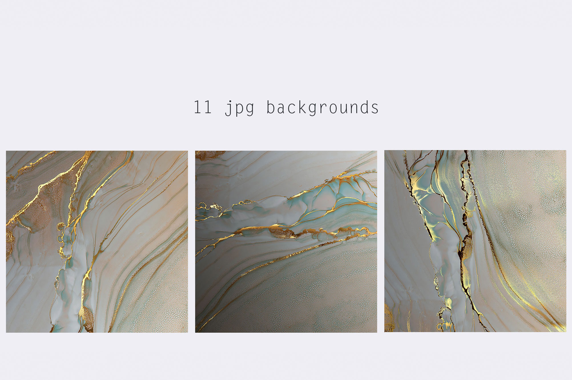 Gold Alcohol Ink Backgrounds