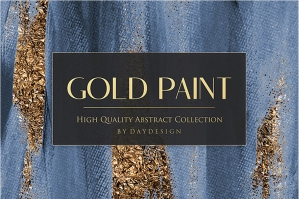 Gold Foil Paint Backgrounds 2