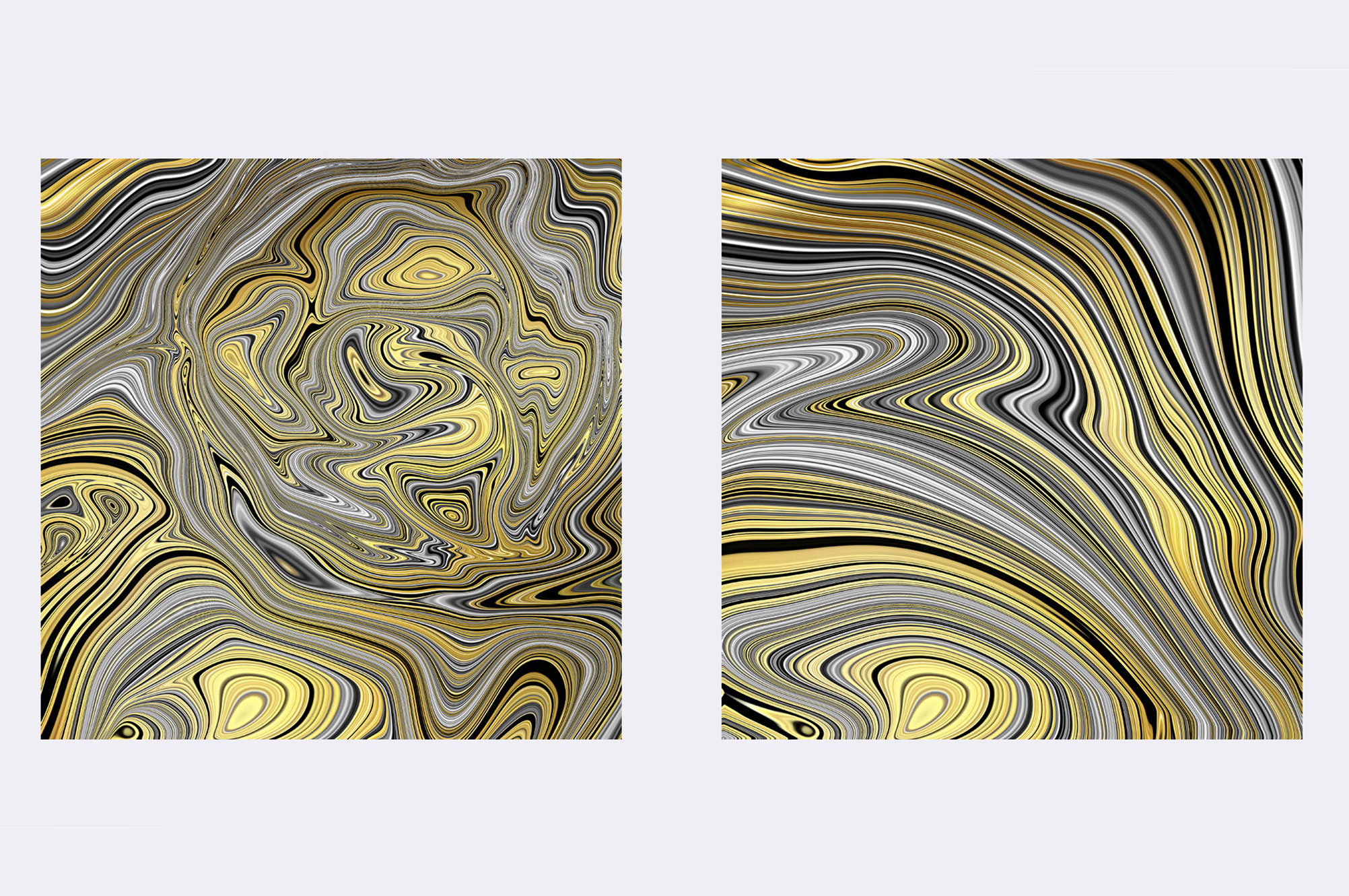 Gold Marbled Textures