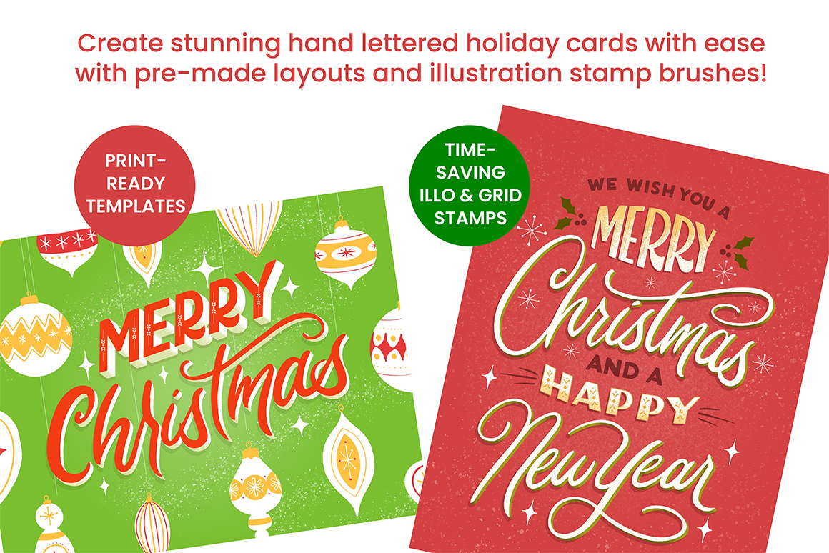 Hand Lettering for the Holidays - DIY Card Kit