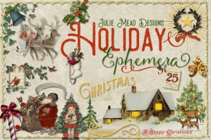 Holiday Ephemera Elements