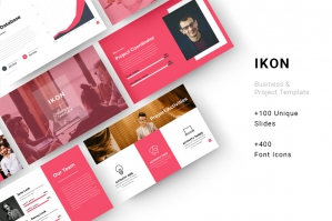 Ikon Business & Project Googleslide Template