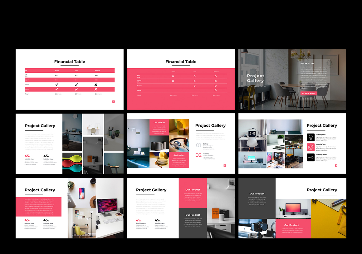 Ikon Business & Project Powerpoint Template