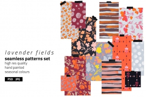 Lavender Fields Pattern Set