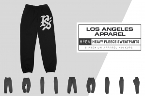 Los Angeles Apparel HF04 Heavy Fleece Pants