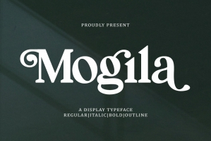 Mogila Display Font