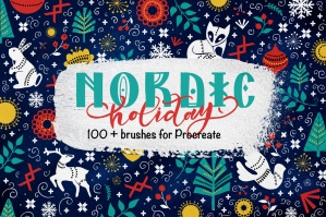 Nordic Holiday Procreate Brushset