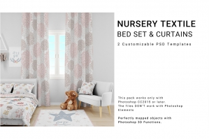 Nursery Textile - Bedding Curtains & Pillows