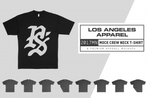 Los Angeles Apparel 2017MN Mock Neck T-Shirt