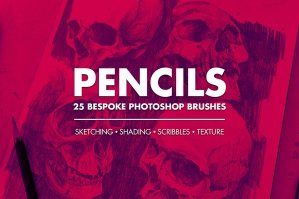 Pencil Brush Set for Photoshop
