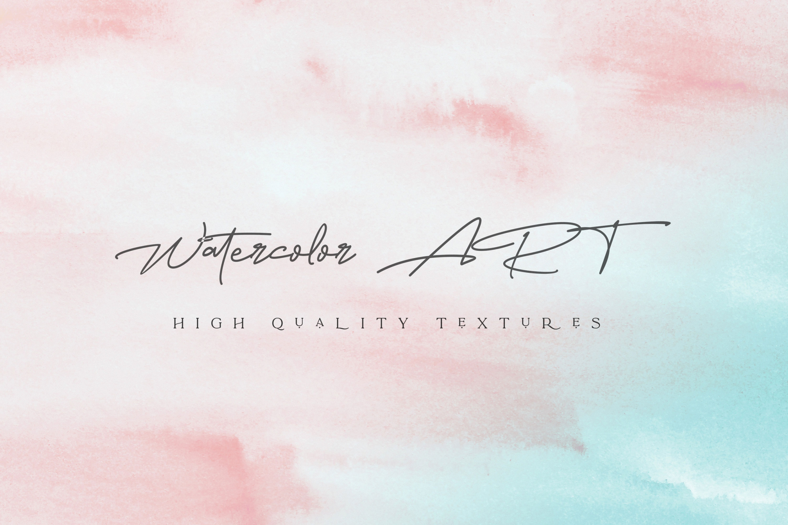 Pink & Turquoise Watercolor Background