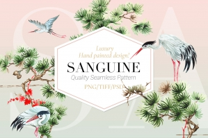 Sanguine, Serene Patterns & Motifs