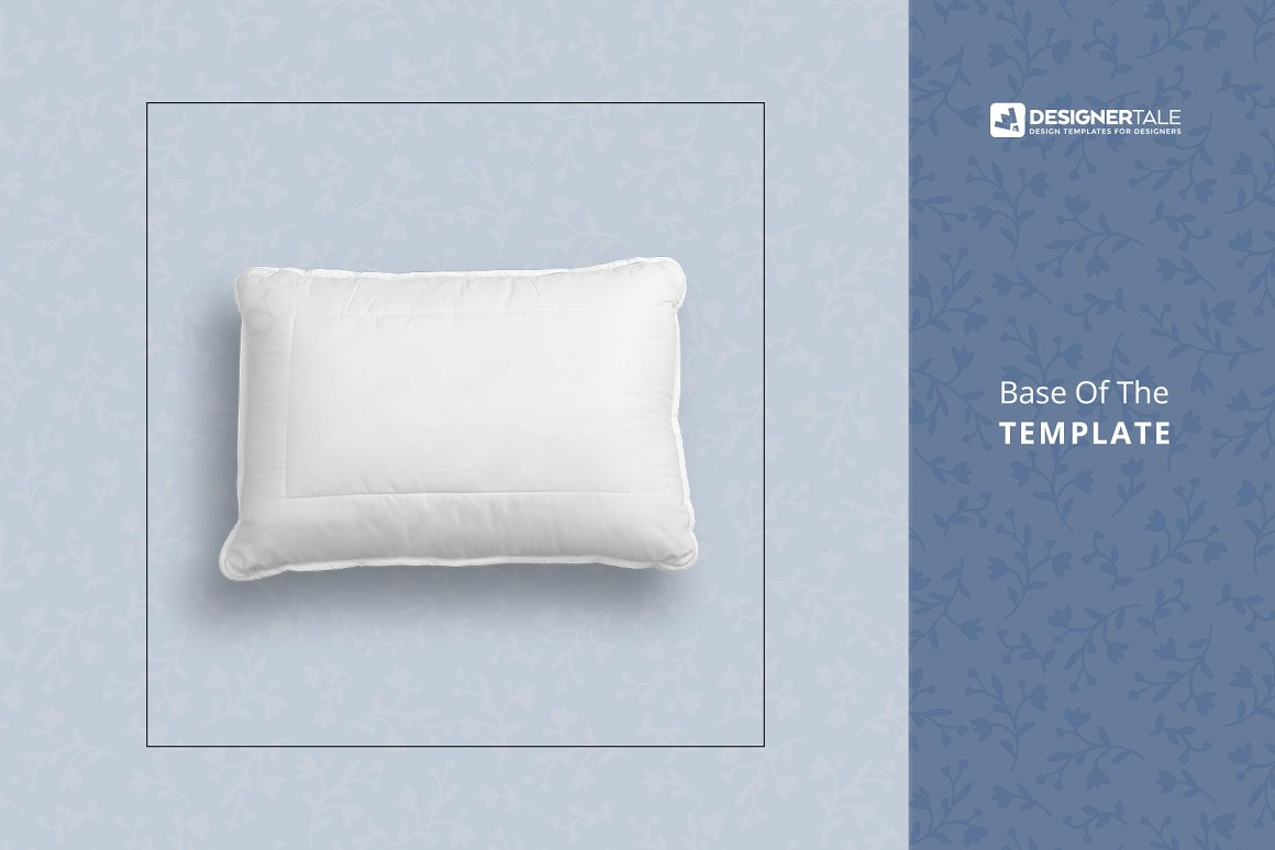 Soft Bed Pillow Mockup