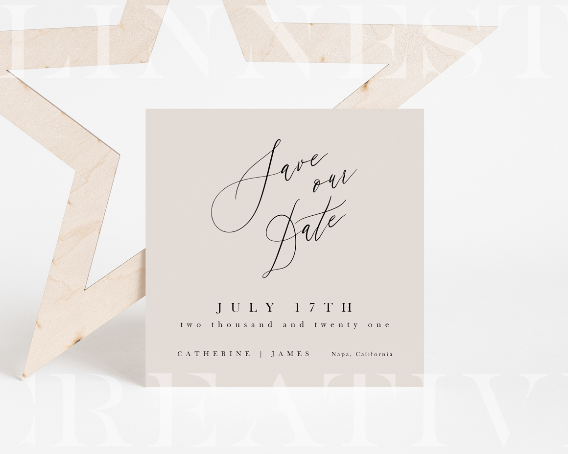 Star White Invitation Mockup Bundle