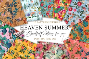 Summer Seamless Pattern Bundle