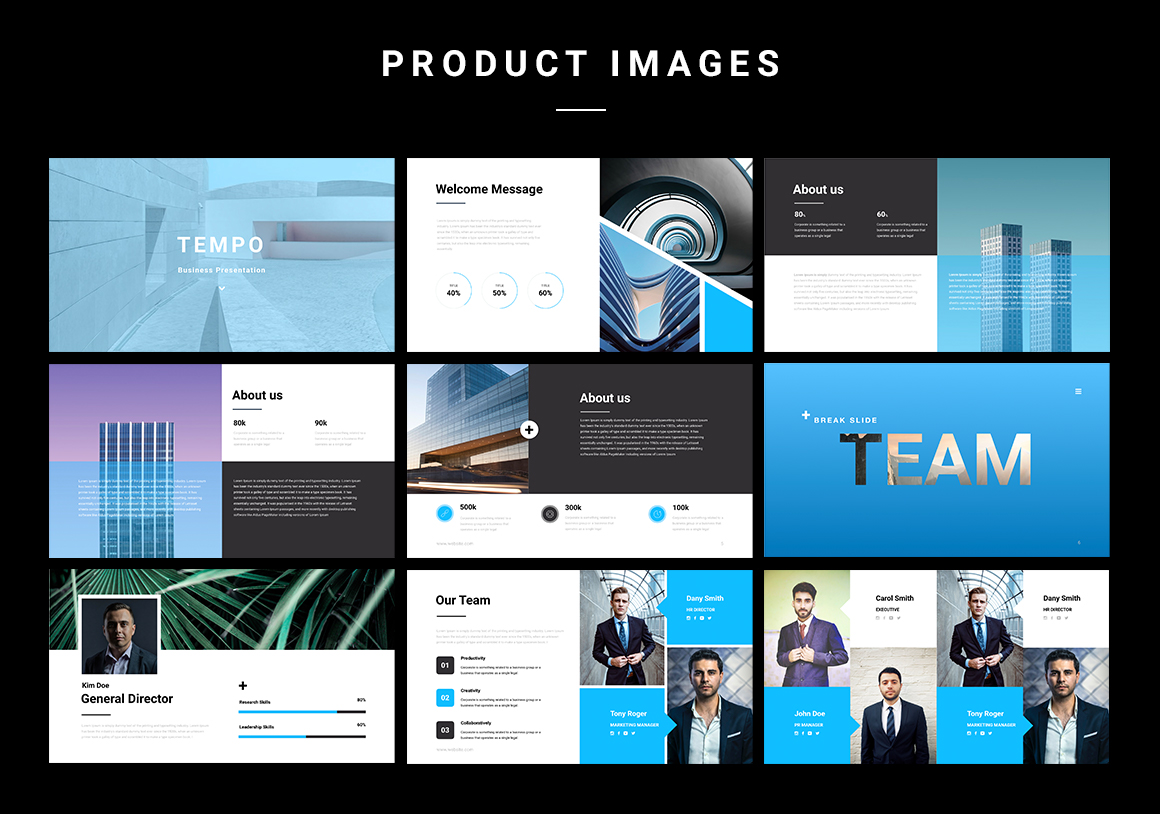 Tempo Business Keynote Template