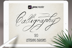 Texture Calligraphy Set for Procreate