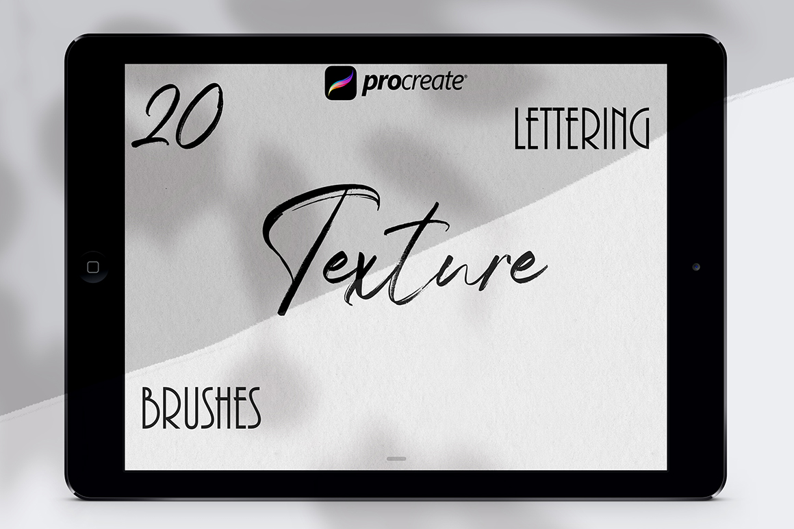 Texture Lettering Set for Procreate