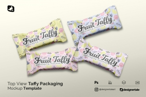 Top View Taffy Packaging Mockup