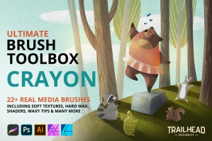 Ultimate Brush Toolbox - Crayon Brushes
