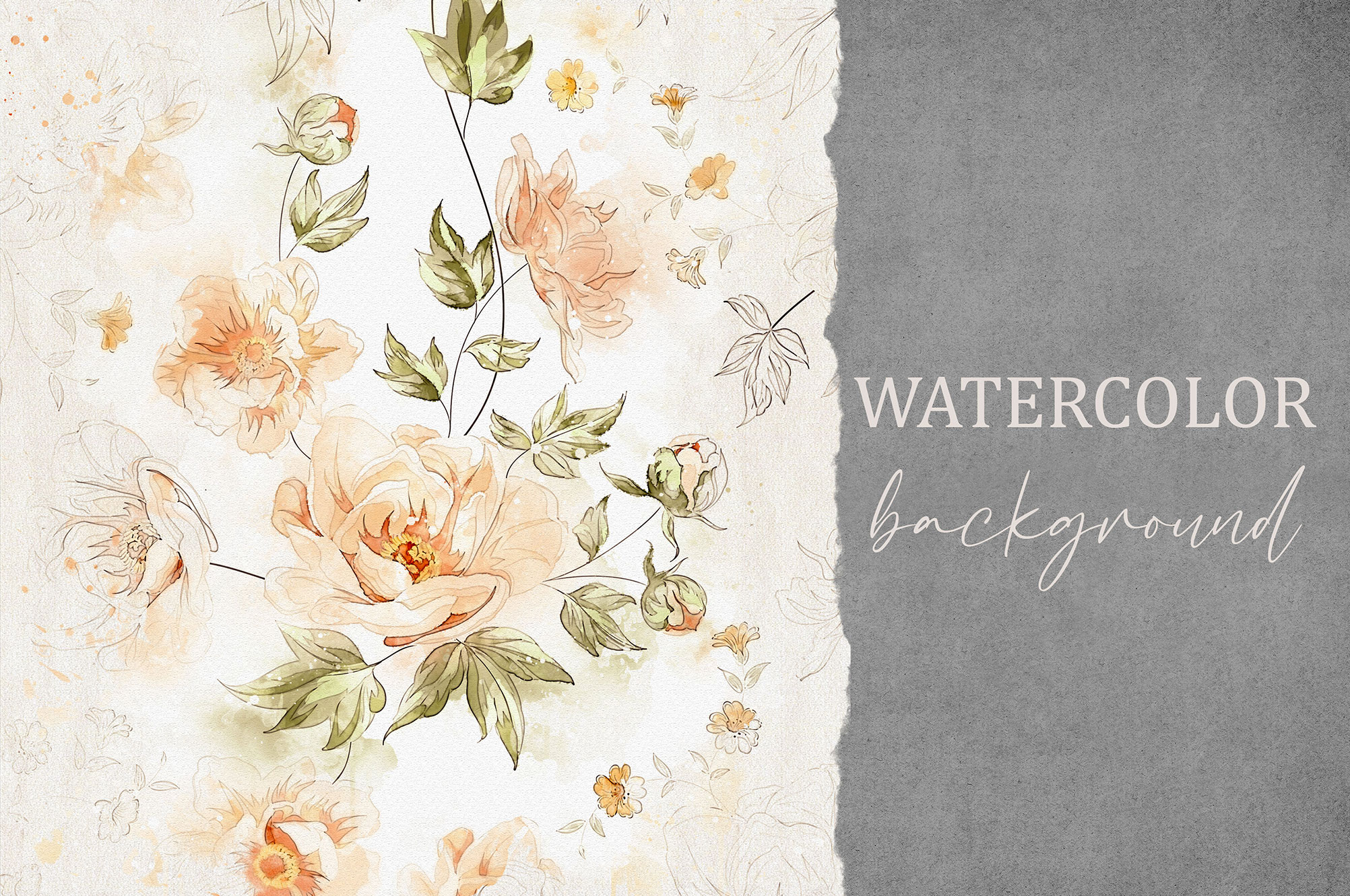 Watercolor Floral Collection 3