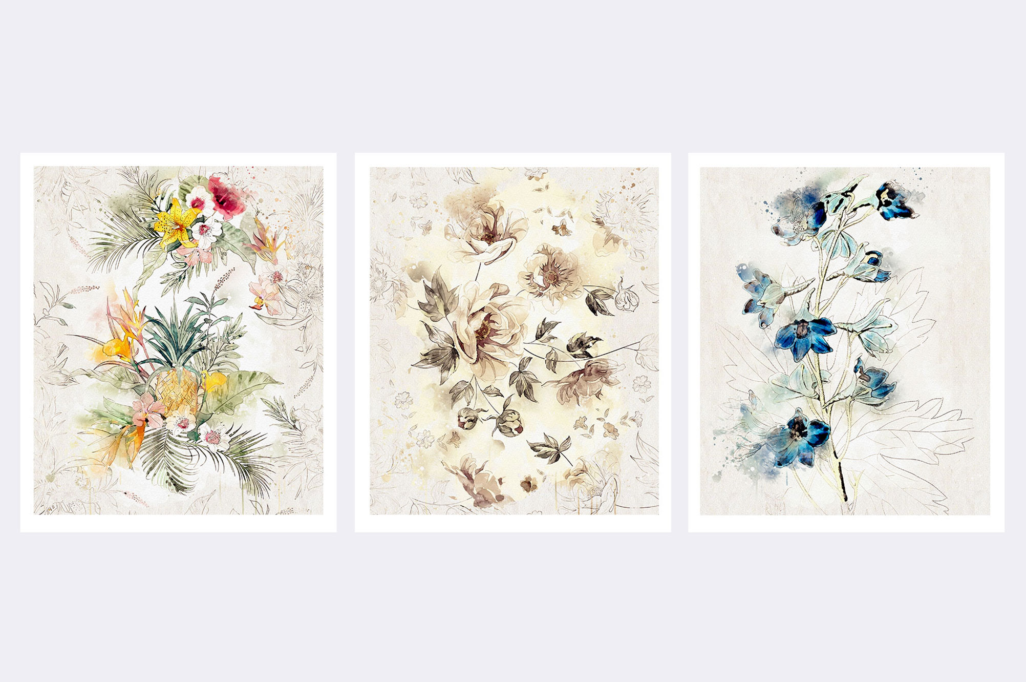 Watercolor Floral Collection 4