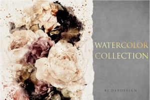Watercolor Flowers Collection 1