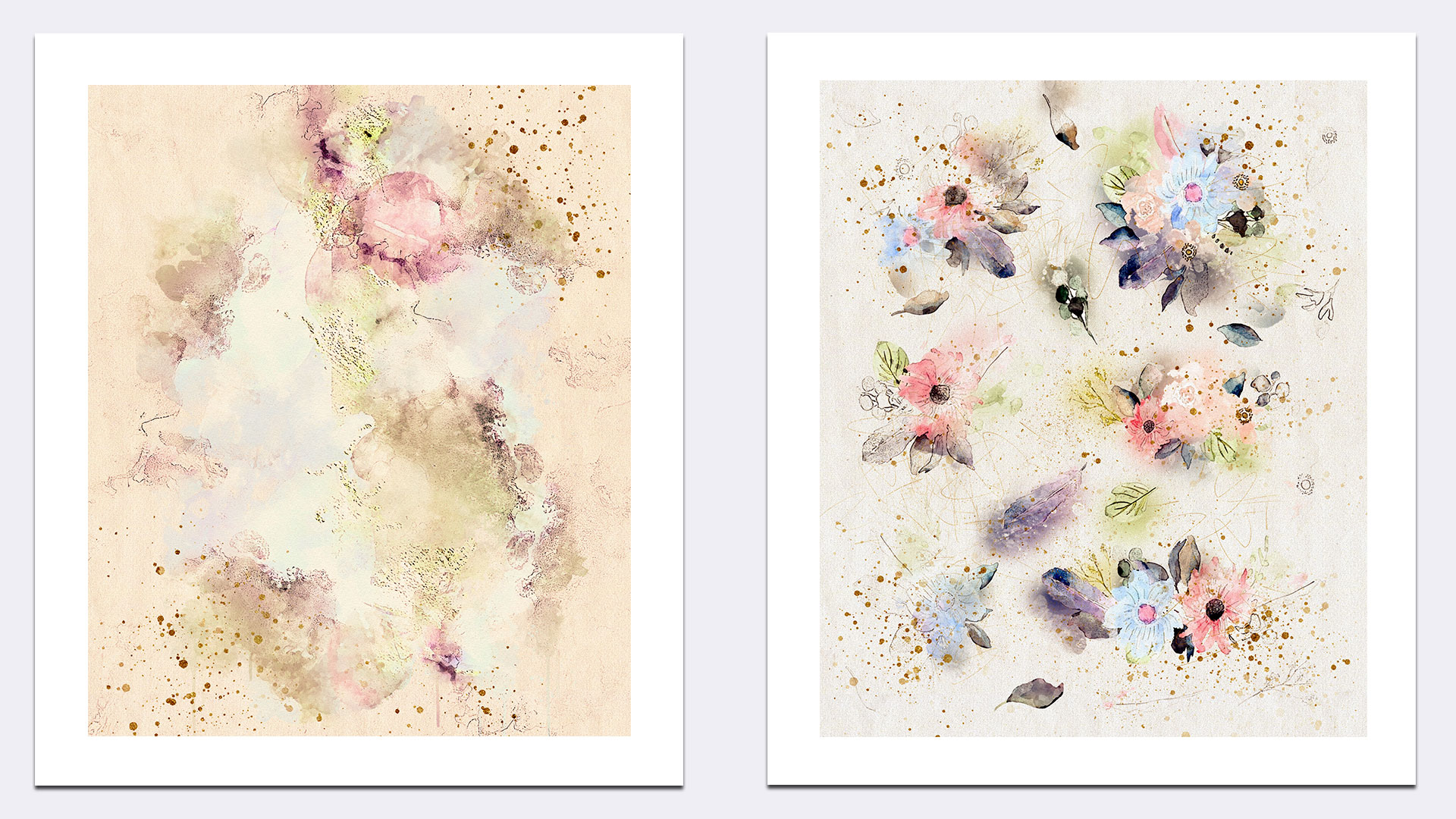 Watercolor Flowers Collection