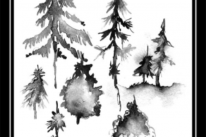 WatercolorTrees No. 3