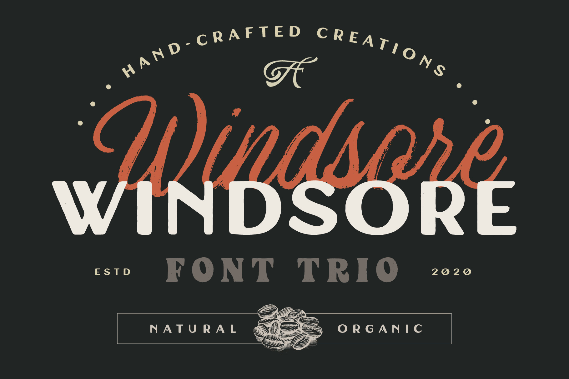 Windsore - Hand Crafted Font Trio