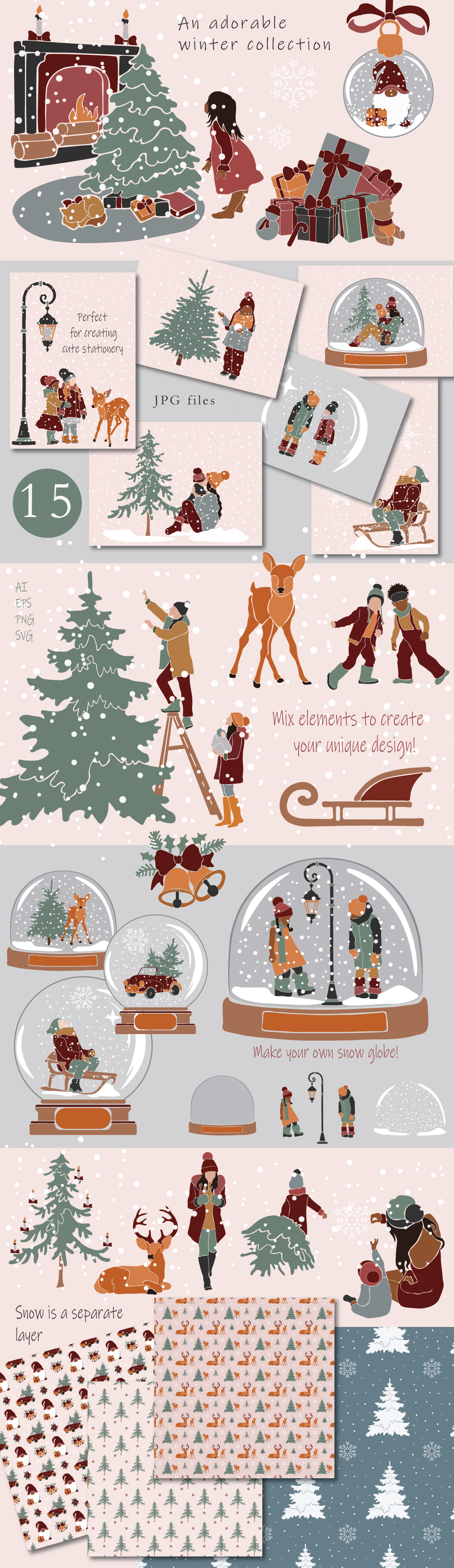 Winter Holiday Illustration Collection