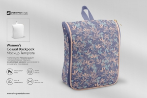 Women's Casual Backpack Mockup