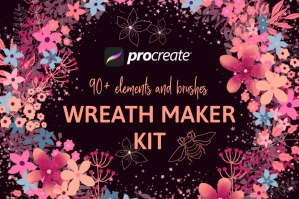 Wreath Maker Kit for Procreate