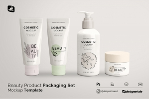 Beauty Product Packaging Set Mockup