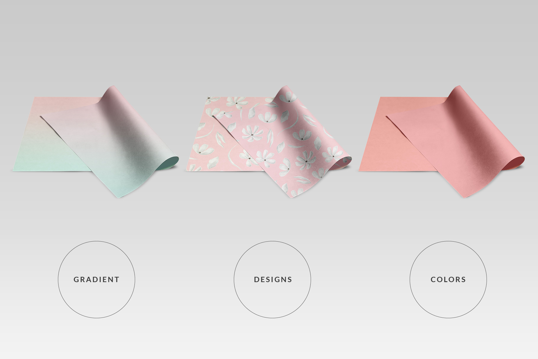 Top View Wrapping Paper Roll Mockup
